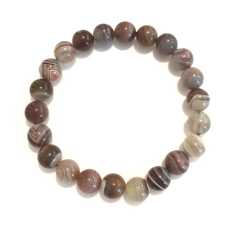 * Fashion generous gift of choice * - BR0315 - natural stones - striped agate bracelet lap