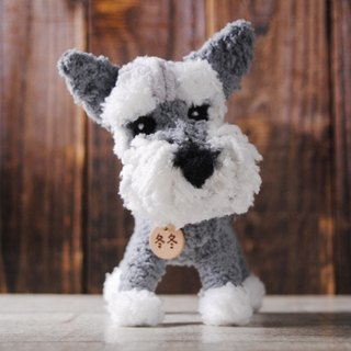Pets avatar 14 ~ 15cm [feiwa Fei handmade baby doll pet schnauzer] (welcome to build your dog)