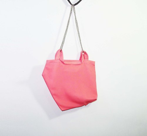 Wahr_ pink pentagon shoulder bag / shopping bag