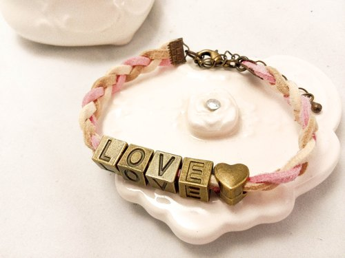 "LIULIUYA customized optional letter ♥ ""meaning"" weaving bracelet"