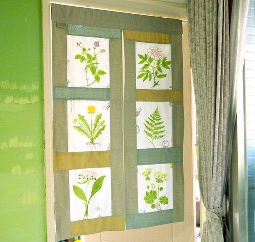 howslife day Spring Plant Series - Day Chun Patchwork Furnishings curtain (long)