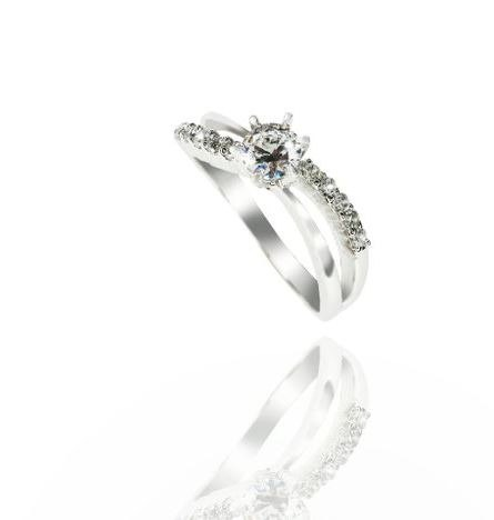 "Design your "" Love "" classic curve 30 ring (Angeline Lu set GIA30 points off loose diamonds, grade D / VVS1) -1"