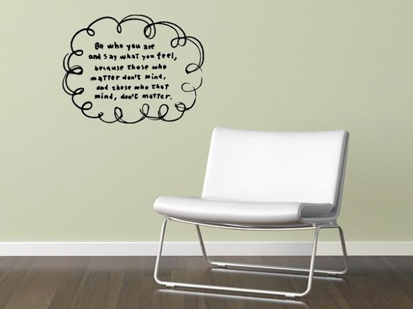 / Quote / Be you / Wall Sticker / ECO-Material