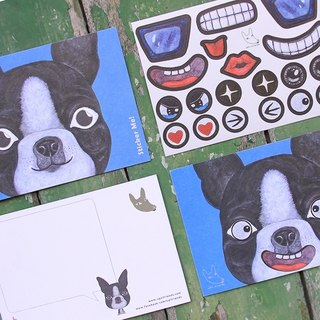 Sticker Me! Music stickers friends! _ Boston Terrier