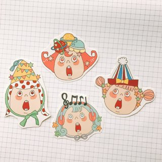 Small party sticker set 4 in