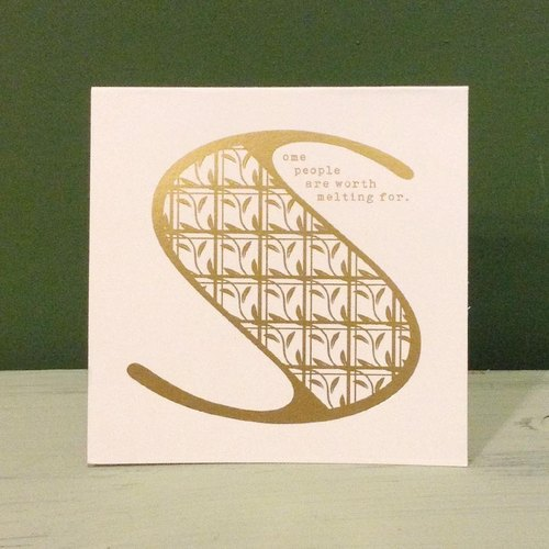 Bronzing letter card envelope sticker group -S