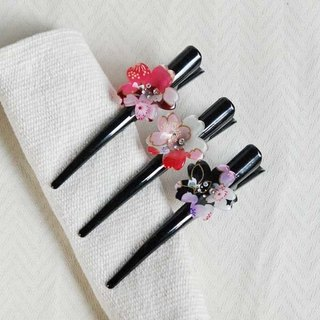 Sakura soft, single cherry, 12.5cm Beak clip, clip picks - tricolor
