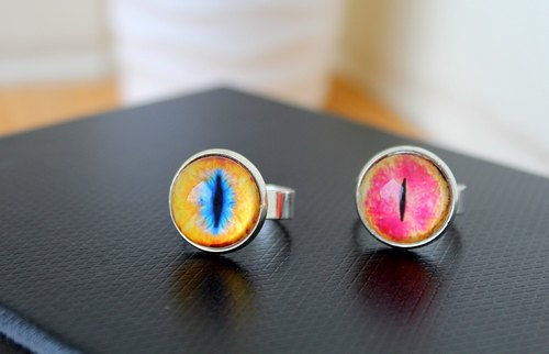 [Cat EYE] 16mm opal silver simple ring system