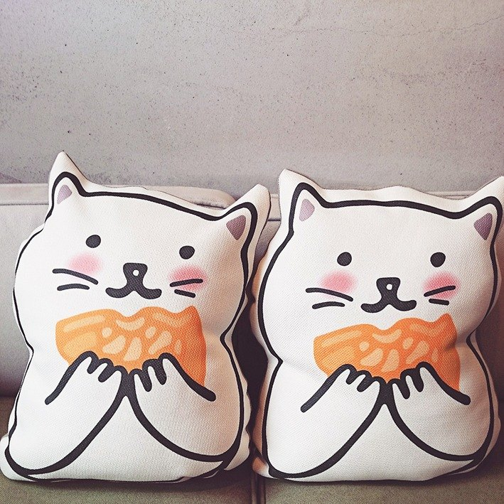 KerKerland - share with you - squid burning cat pillow two into