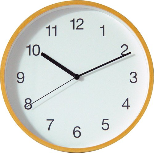 Classic - back to the simple wall clock (wooden)