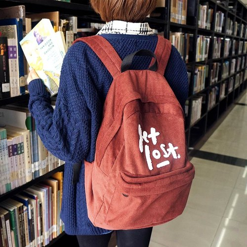 UPICK original product life original fashion explosion models corduroy shoulder bag school bag shoulder bag variety of optional Oxford