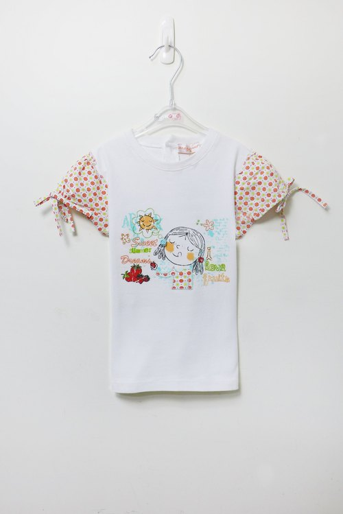 Strawberry Girl bow short-sleeved shirt