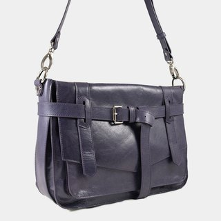 Influxx KAY Classic Leather Satchel / Leather Bag – Purple Reign