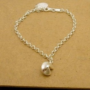 Fortune Cookie Silver Bracelet