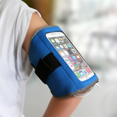 + 2500mAH mobile power supply multi-purpose sports arm band (blue section)