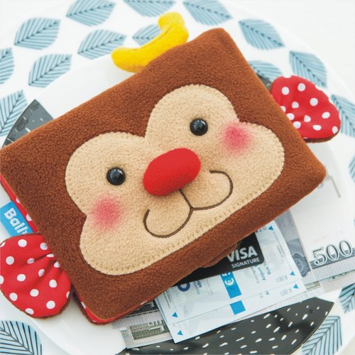 """Balloon"" Passport Case - Banana Monkey"