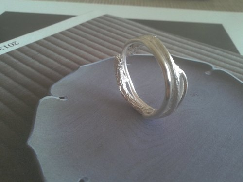 Twig collection TGR001 shoots series handmade silver ring Taiwanese designers