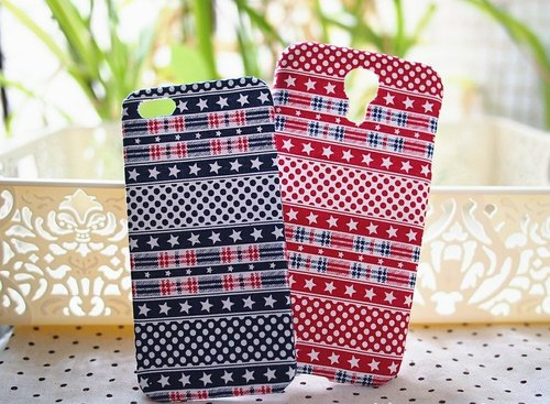 Cloth US wind blue / red stars and stripes couple paragraph mobile shell protective shell Apple Iphone5 s Samsung Galaxy S4