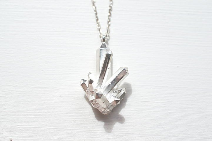 Crystal Crystal Necklace Silver