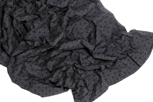 Folding A-Part Blanket black
