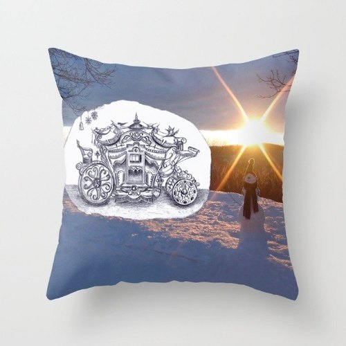 [Travel with Pencil Series] Mr. Snowman painted pillow - cozy, high-quality printing United States