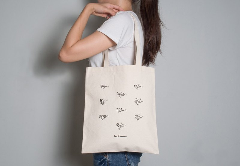 Hand-painted handprints Peibu bag [nerd] sided pattern hand / shoulder