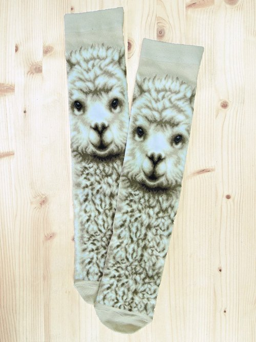 JHJ Design Canadian brand of high saturation knitting socks animal series - mud horse Socks (knitted socks) cute alpacas