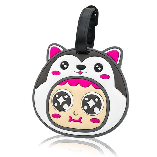 QQ tumbler luggage tag - Dog