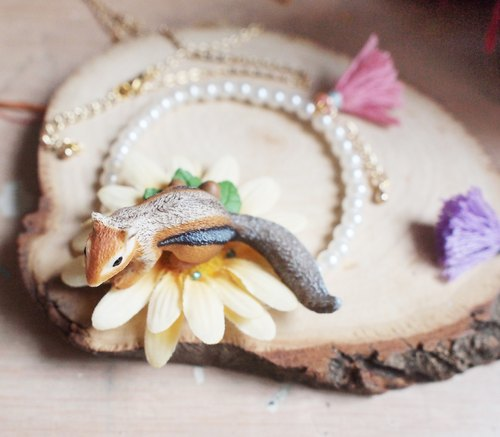 【Animal Party Series】Squirrel & the Sunflower Bracelet