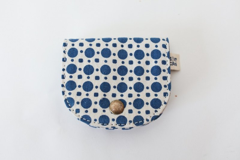 Brut Cake handmade fabric - vintage print coin wallet (8) limited item ! handy, large capacity