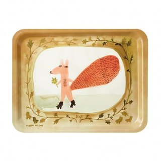 Skating Squirrel Hand-Painted Plate | Donna Wilson