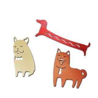[Desk + 1] joy into the group of three dogs bookmark B-