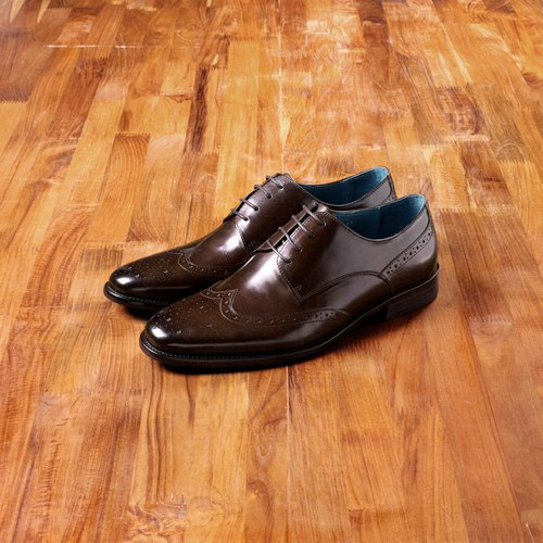 Vanger elegant and beautiful ‧ elegant and clean wing Derby shoes Va195 deep coffee