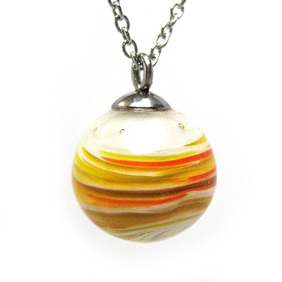 Planet series - Jupiter (luck) glass beads necklace