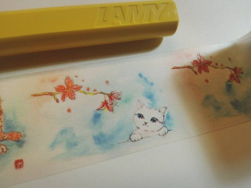 New version of the meaning of travel _ David painted cat Limited paper tape _30mm_10M