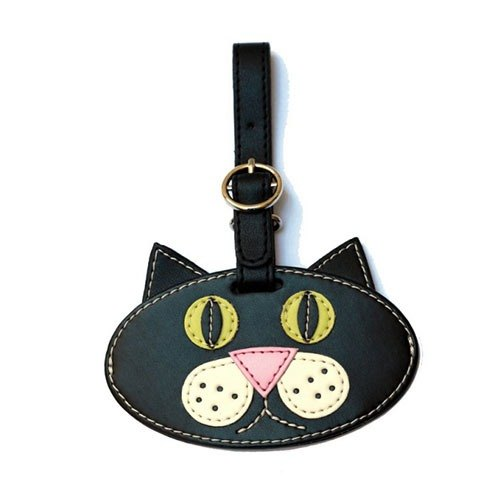 Organized Travel- cute animal shaped luggage tag / ID tag / key ring (cat)