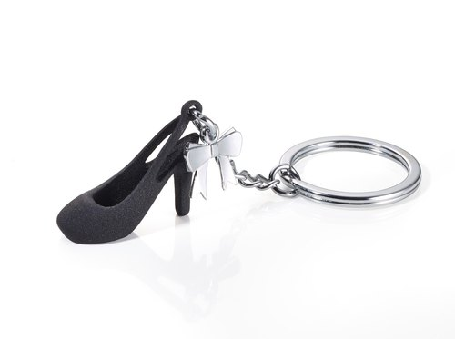 """High Heels Day"" black key ring"