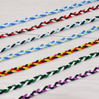 噗妃 - - pure hand-woven lucky bracelet surf foot ring foot rope K (cotton models)