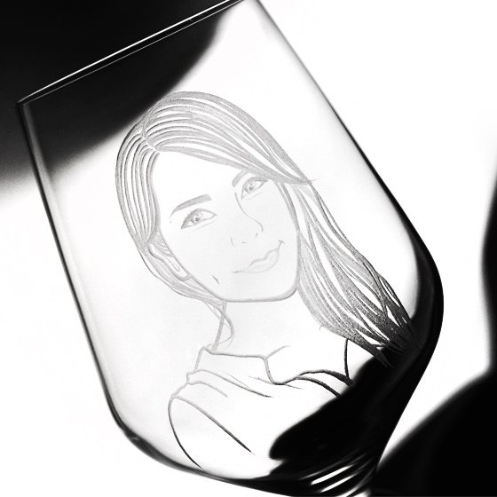 Valentine's Day 630cc [MSA Portrait Crystal Cup] (realistic version) YOU妳~ German SPIEGELAU wine glass