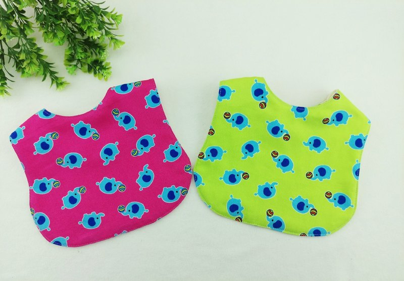 Tiaoqi small like -3 color optional. Double-sided bibs / saliva towel / bibble type hiccup towel (double cotton + four yarn) (can add 40 embroidery name)