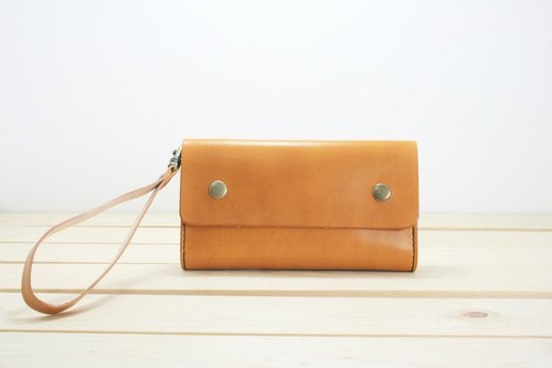 【LION's】Handmade Leather-- iPhone、Samsung 、HTC、Sony Phone Holster. Snap button (M)