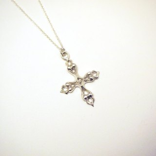 Silver Holy Spirit Cross Handmade Necklace Gift for Her Lover Mom Wife Grandma Sister Date Valentine Birthday Anniversary by IONA SILVER