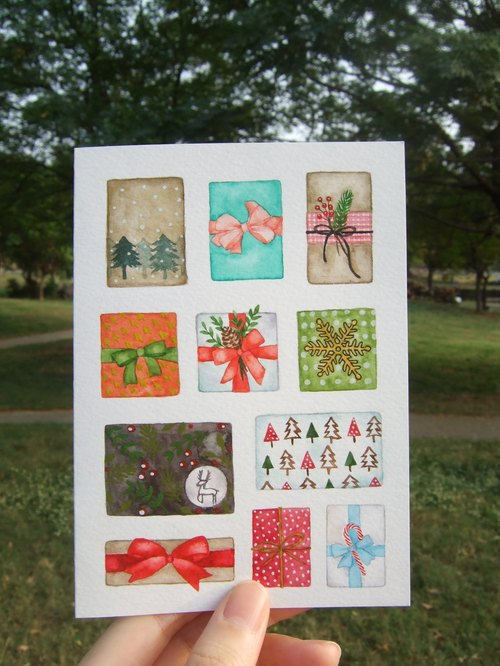 Hand-made Gifts Christmas card (original)