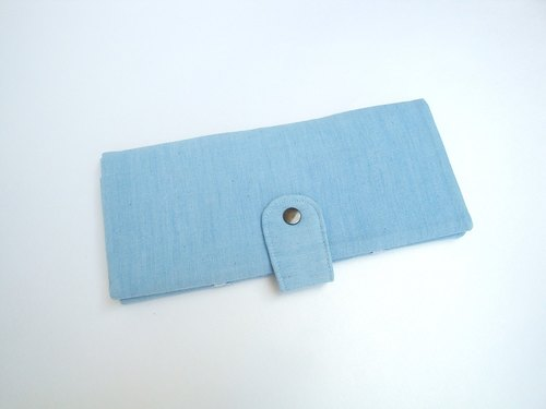 Checkbook cover - denim