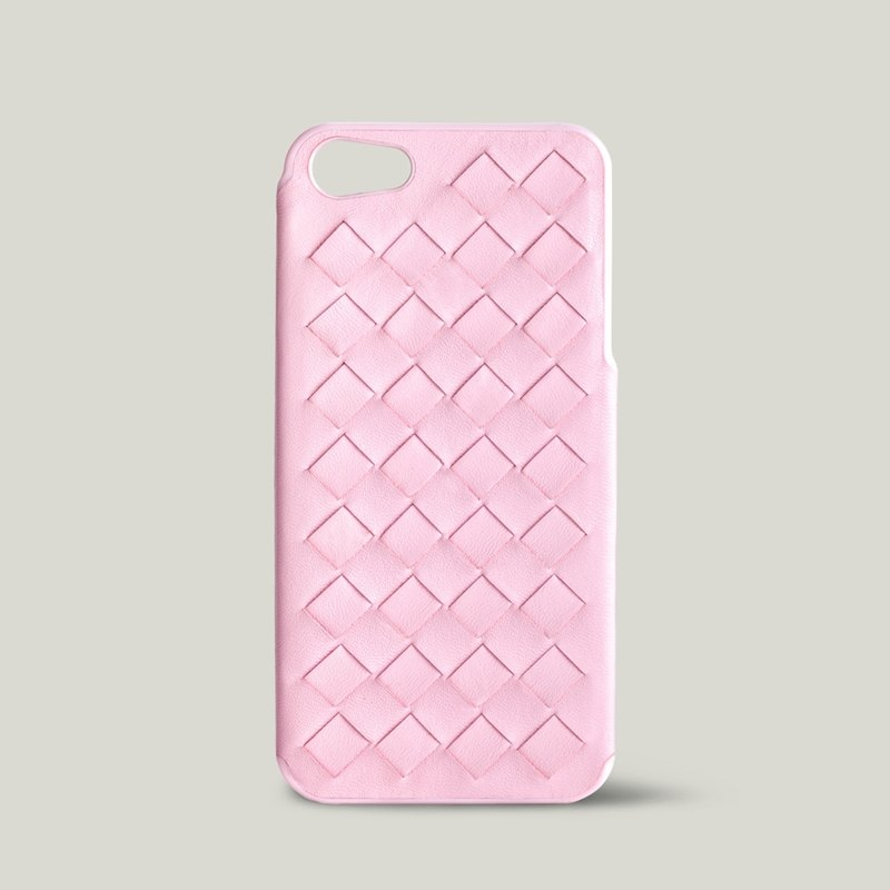 [Price Down Price Drops ↓] ivicase - iPhone 5 / 5S leather phone case - Pink [knitting]