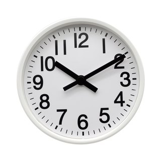 Mesa - pure white clock 2 in 1 (metal)