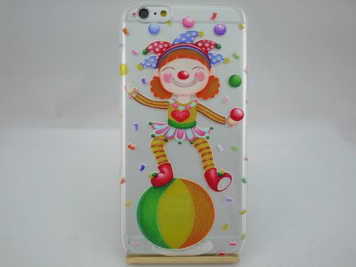 Hand-painted love series - Love Clown - Sabina sabrina <iPhone / Samsung / HTC / LG / Sony / millet> TPU mobile phone protection shell