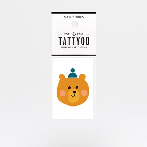 Hello Bear tattoos sticker | TATTYOO
