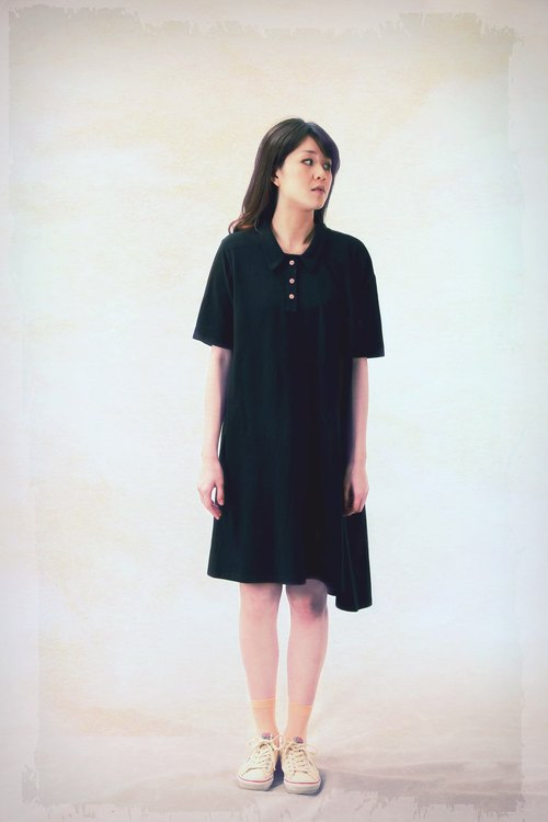 Rhyacian Asymmetrical Oversize Polo Dress