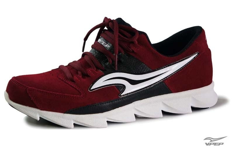 VPEP men's casual running shoes / wine red and black with / limited edition out of print, good quality